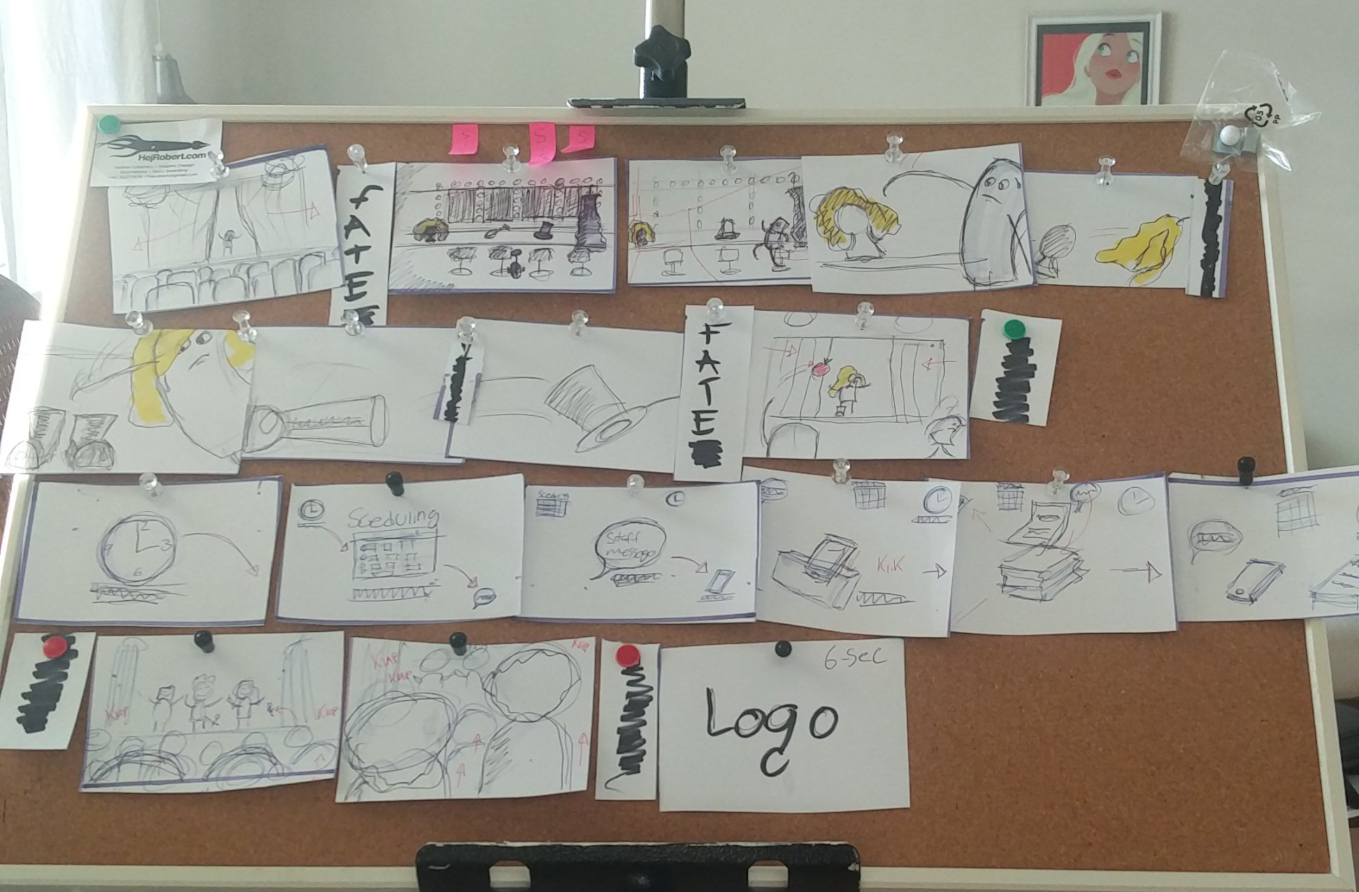 Storyboard of my planday video