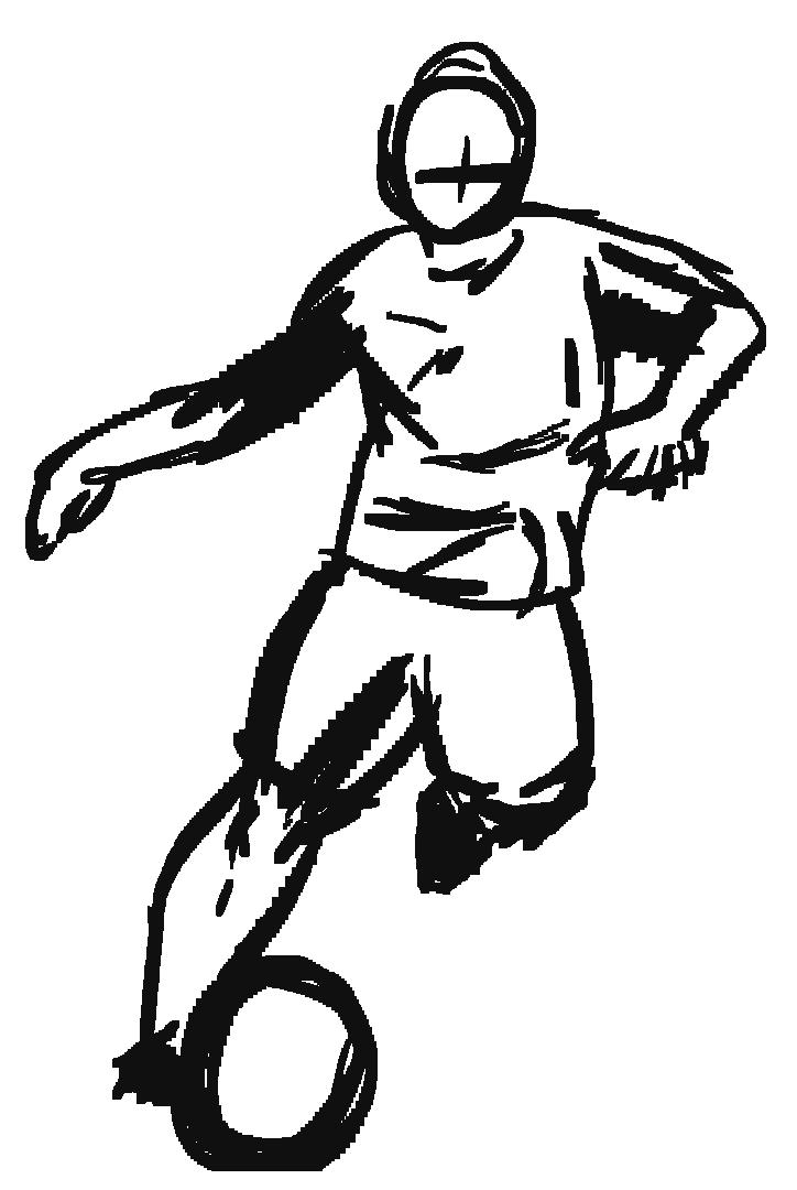 Footballer sketch 4